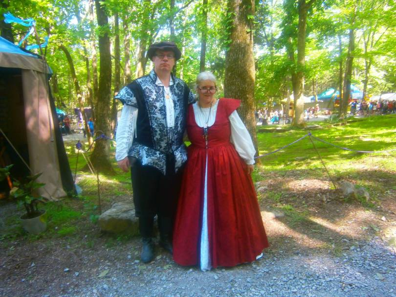 Edward and Susan Macdonald at the Tennessee Renaissance Festival, May 7, 2016.