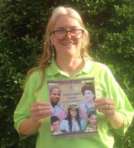 Susan Murrie with her children's book