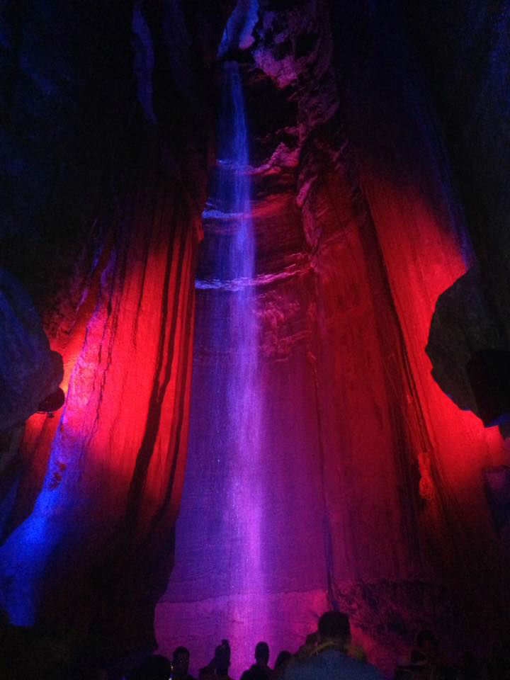 Ruby Falls red and purple