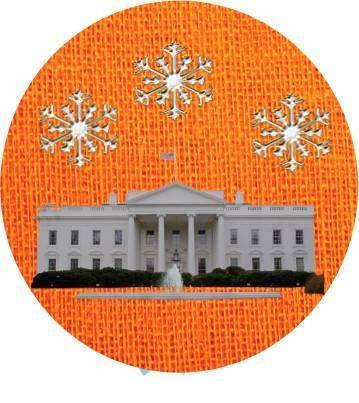 white house snowflakes