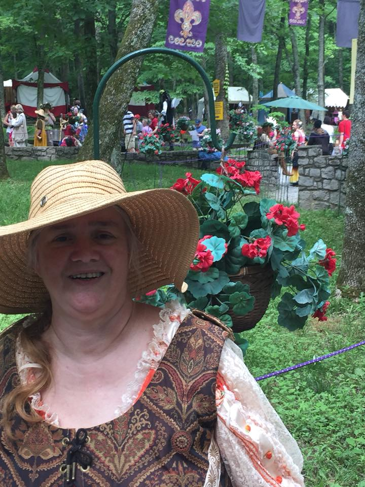Susan, TNRenFest, orange dress